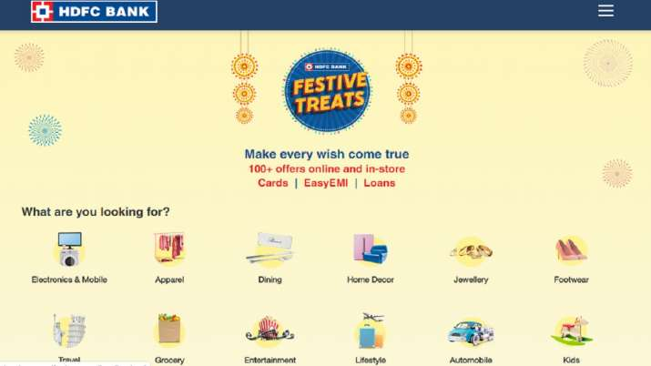 hdfc bank festive treats - India TV Paisa