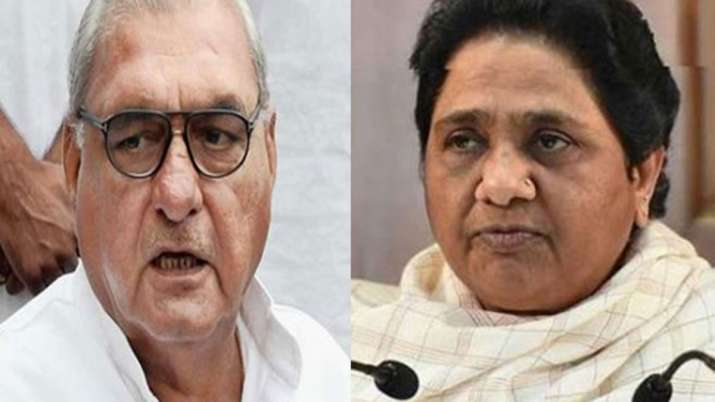 Bhupinder Singh Hooda and Kumari Selja Meets Mayawati, alliance between BSP and Congress Likely- India TV