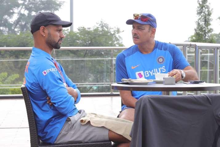 Shikhar Dhawan and Ravi Shastri- India TV