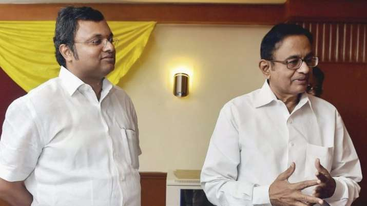 Karti Chidambaram and P. Chidambaram- India TV