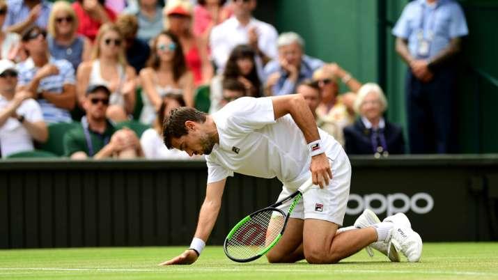 टेनिस : चोट के कारण टूर्नामेंट में हिस्सा नहीं लेंगे केविन एंडरसन - India TV