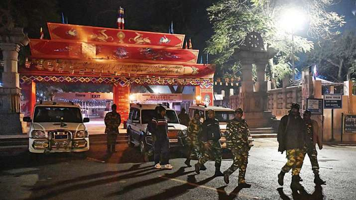 Police personnel inspect the premises of Mahabodhi Temple | PTI File Photo- India TV