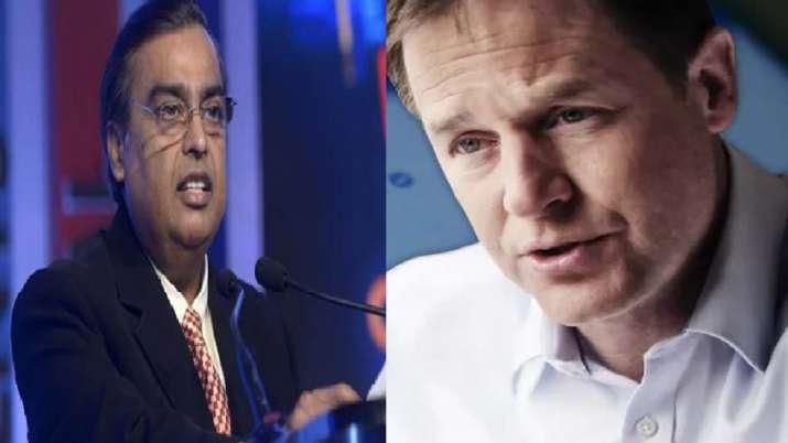 mukesh ambani and Nick Clegg- India TV Paisa