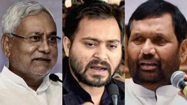 Nitish Kumar, Tejashwi Yadav and Ram Vilas Paswan | PTI File- India TV