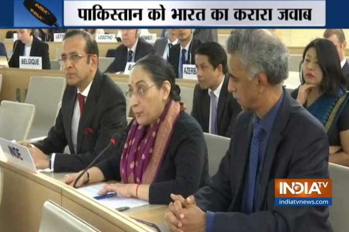 India Reply to Pakistan at UNHRC- India TV