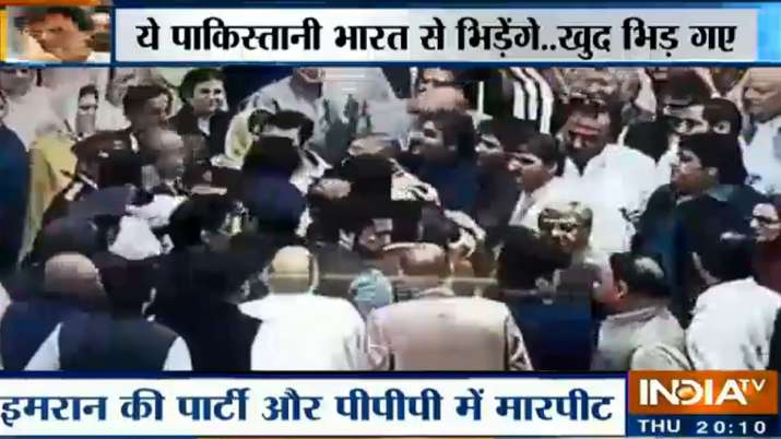 Shuffle between pakistani MPs inside parliament- India TV