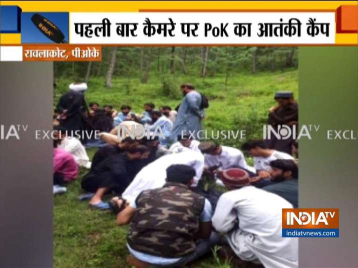 Images of terrorists gathering at training camp in PoK surfaced - India TV