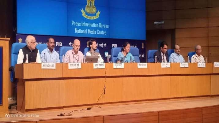 Press Conference by Union Finance Minister Nirmala Sitharaman at National Media Centre, New Delhi- India TV Paisa