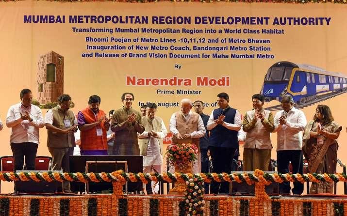 Prime Minister Narendra Modi, Maharashtra Governor Bhagat Singh Koshyari and state Chief Minister De- India TV Paisa