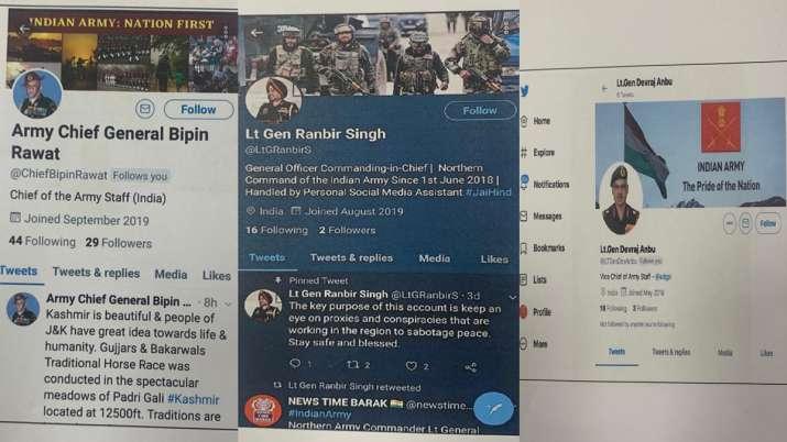 Pakistani propaganda machinery creates fake social media accounts of Indian Army Generals - India TV