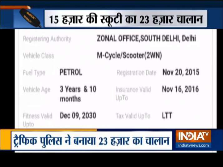 Traffic chalan- India TV