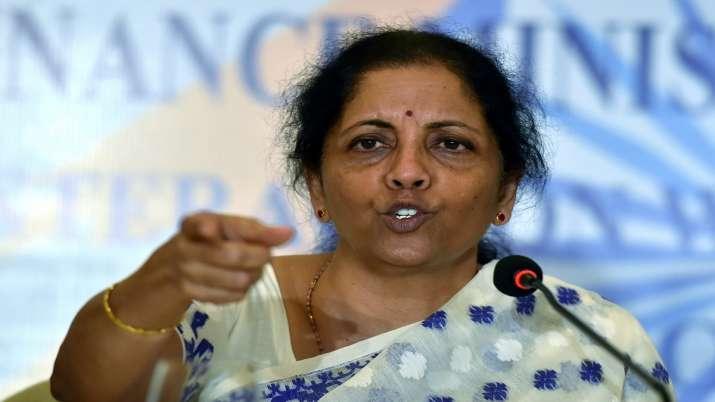 Union Finance Minister Nirmala Sitharaman during a press conference in Kolkata, Friday- India TV Paisa