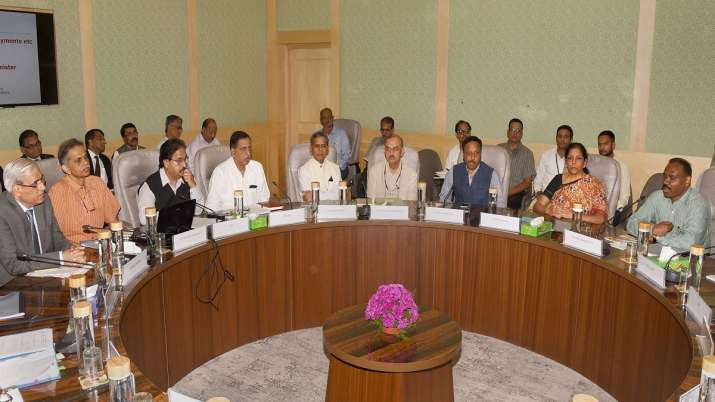 Union Minister for Finance and Corporate Affairs Nirmala Sitharaman chairs a meeting on capital expe- India TV Paisa