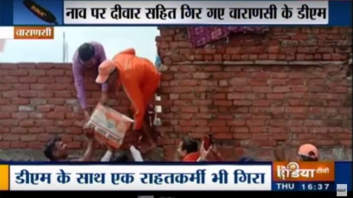 Varanasi DM, 2 NDRF men injured as wall collapses during flood relief work- India TV