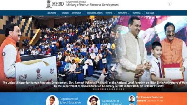 HRD Minister Ramesh Pokhriyal Nishank inaugurate 21...- India TV