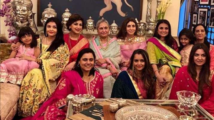 aishwarya rai bachchan jaya-bachchan and sonali bendre celebrate karva chauth see photos- India TV