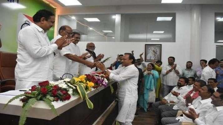 अजित पवार फिर चुने गए NCP विधायक दल के नेता- India TV