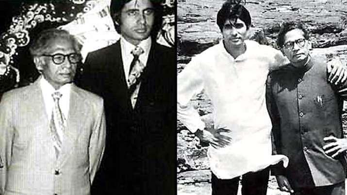 Amitabh Bachchan with father Harivansh Rai Bachchan- India TV