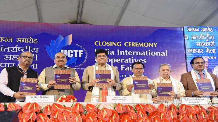 Commerce and Industry Minister Piyush Goyal address at the closing ceremony of 'India International - India TV Paisa