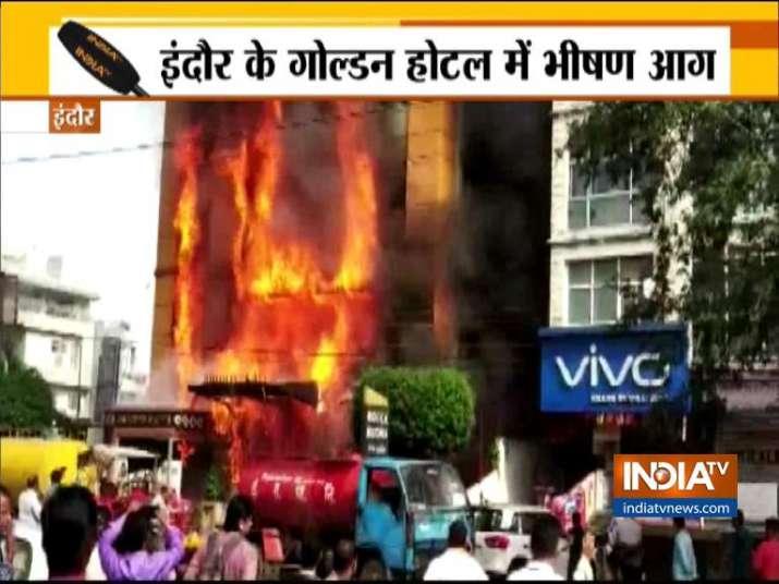 Indore Golden Hotel Fire- India TV