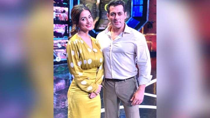 Hina Khan with Salman Khan- India TV