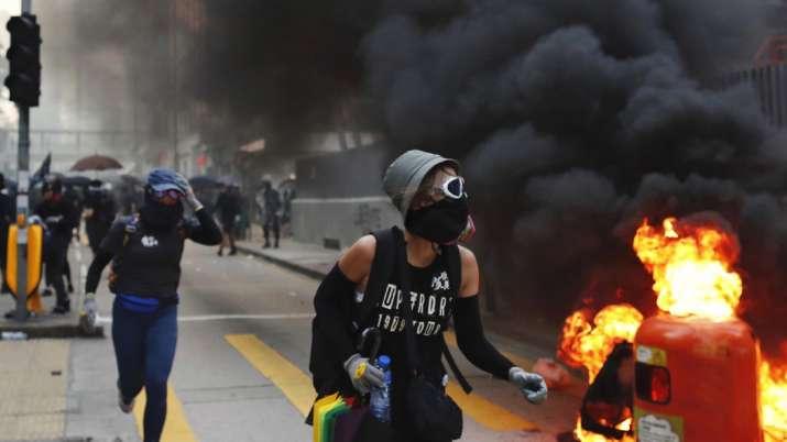 Hong Kong police slammed in fresh protests over shooting of teenage boy   AP- India TV