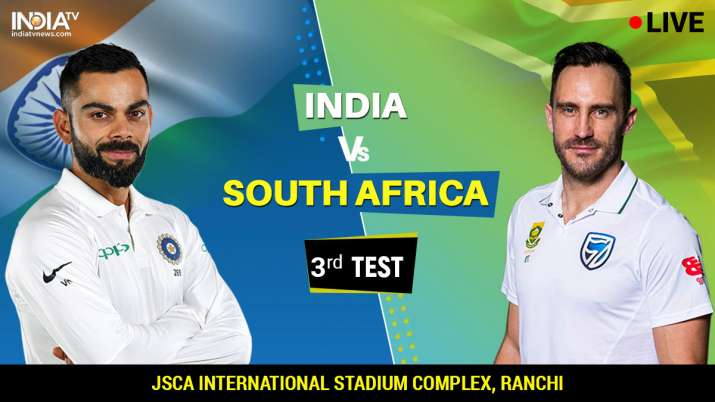 India vs South Africa third test live cricket score match update from JSCA Stadium Ranchi on IndiaTV- India TV