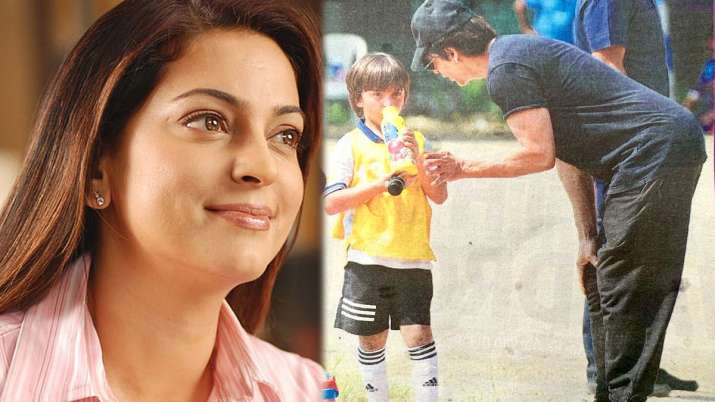 जूही चावला, अबराम और शाहरुख खान- India TV