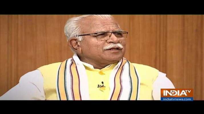 Manohar Lal Khattar in Aap Ki Adalat- India TV