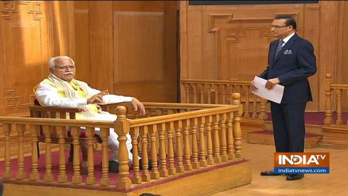 Manohar Lal Khattar in Aap Ki Adalat- India TV