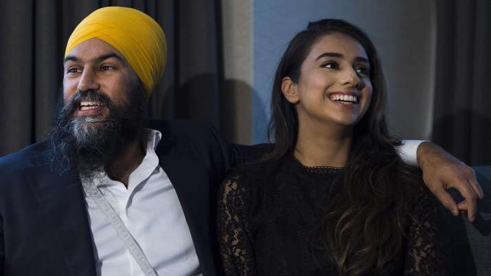New Democratic Party leader Jagmeet Singh and his wife Gurkiran Kaur- India TV