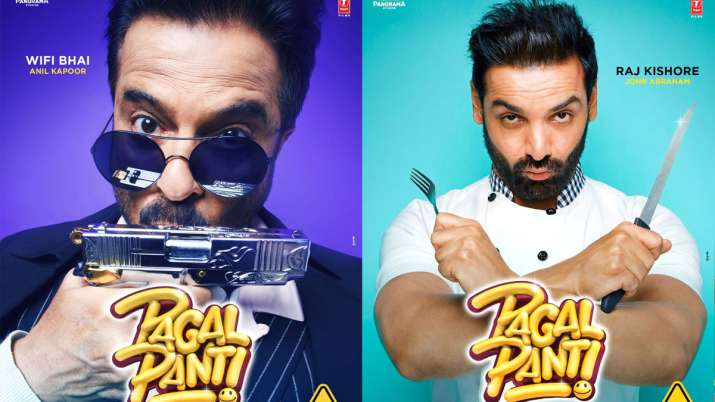 John Abraham and Anil Kapoor in Pagalpanti first look posters- India TV