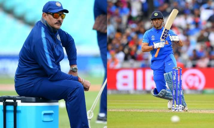 Ravi Shastri and MS Dhoni- India TV