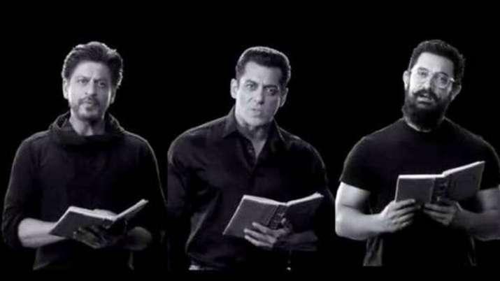 शाहरुख खान, सलमान खान और आमिर खान- India TV