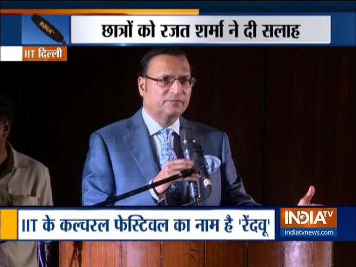 India TV Editor in chief Rajat Sharma- India TV