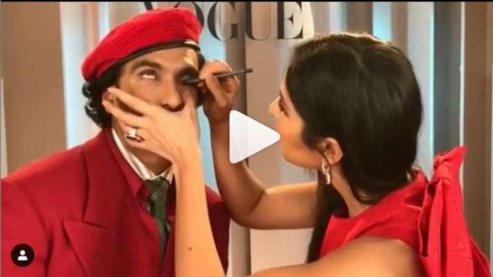Katrina kaif apply kajal to ranveer singh- India TV