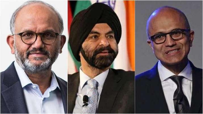 Three Indian-origin CEOs (From left to right) Adobe CEO Shantanu Narayen, MasterCard CEO Ajay Banga - India TV Paisa