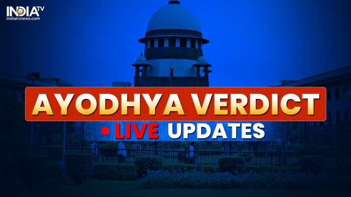 Ayodhya verdict latest news- India TV
