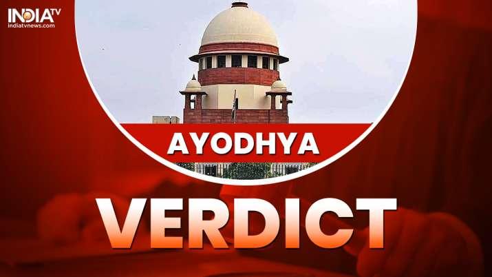 Ayodhya verdict - India TV