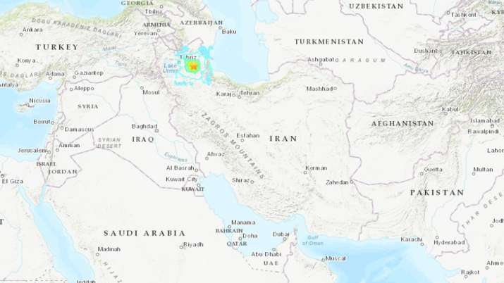 Deadly magnitude 5.9 earthquake hits northwestern Iran, 5 dead | USGS- India TV