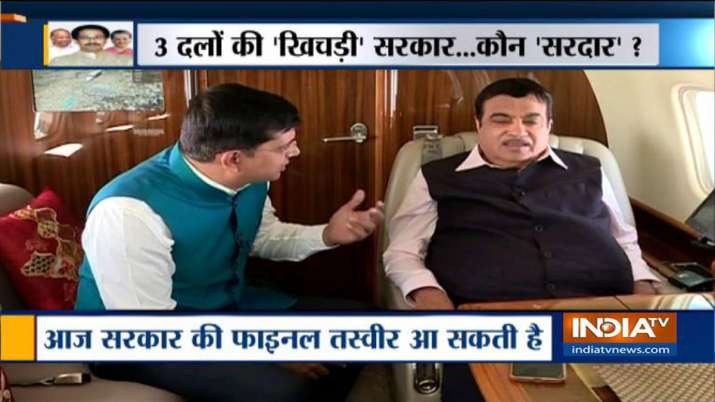 Nitin Gadkari statement on Shivsena-Congress-NCP Government in Maharashtra - India TV