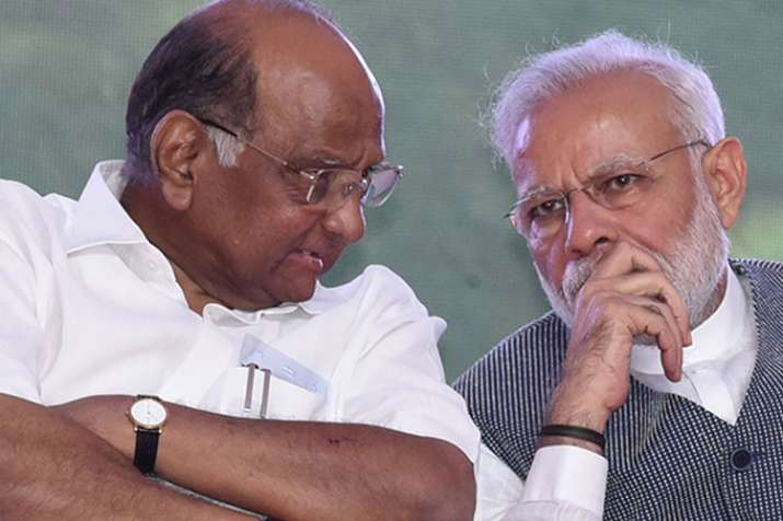 Sharad Pawar and PM Modi- India TV
