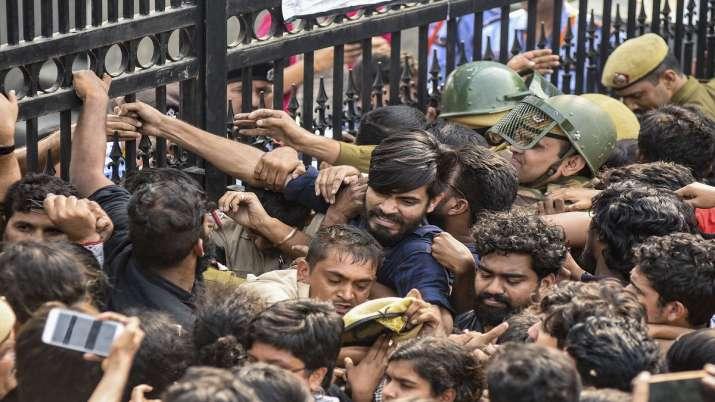 JNU Students protest- India TV