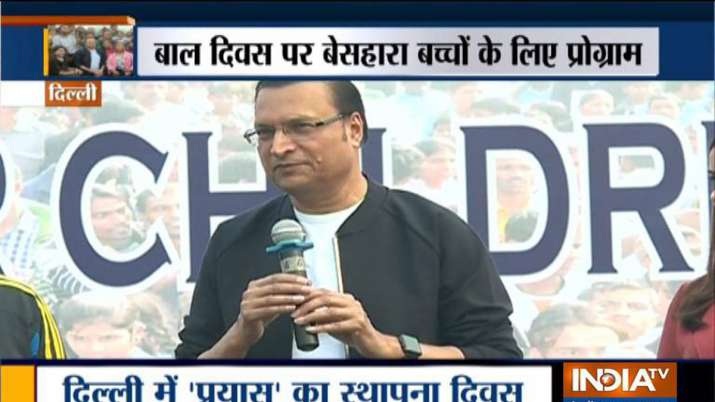 India TV Editor-in-Chief and Chairman Rajat Sharma attends the 31st foundation day of NGO-Prayas as - India TV
