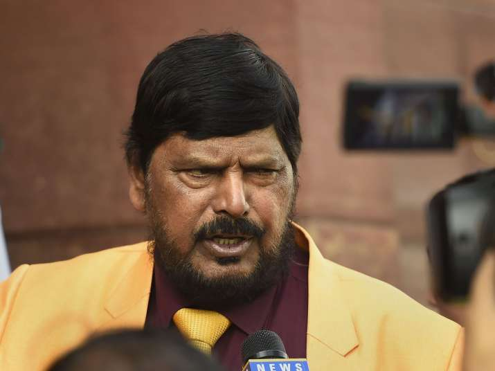 Union Minister Ramdas Athawale speaks to media on the...- India TV
