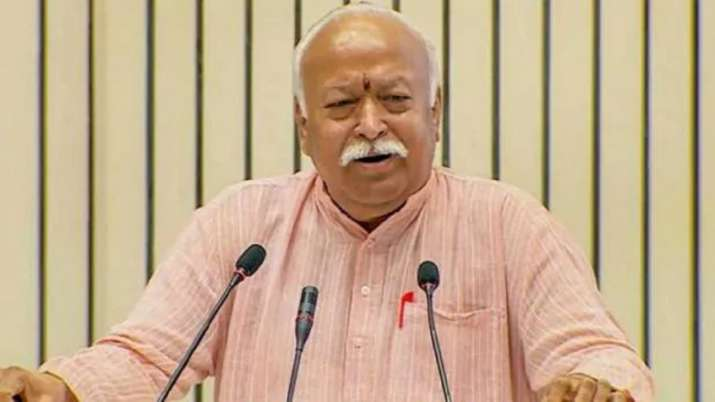 RSS Chief Mohan Bhagwat - India TV