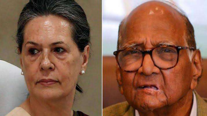 Sonia gandhi and Sharad pawar- India TV