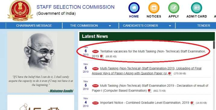 SSC MTS Vacancy 2019- India TV