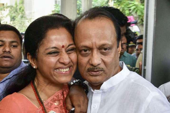 NCP leaders Supriya Sule and Ajit Pawar- India TV