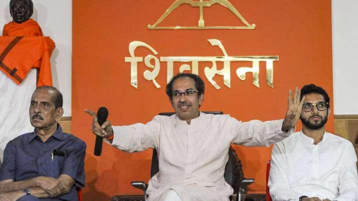 Shiv Sena Chief Uddhav Thackeray with Yuva Sena Chief...- India TV